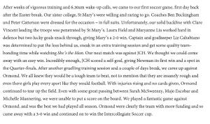 Vestra Soccer article 2013